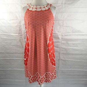 Aryeh Shift Dress Orange Multicolored Size L